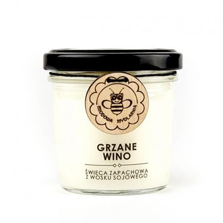 GRZANE WINO świeca z wosku sojowego