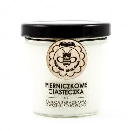 PIERNICZKOWE CIASTECZKA świeca z wosku pszczelego